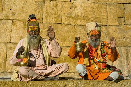 Indian sadhu (holy man). Jaisalmer, Rajasthan, India. Stock Photo - 29017740