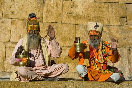 Indian sadhu (holy man). Jaisalmer, Rajasthan, India. Stock Photo - 29125444