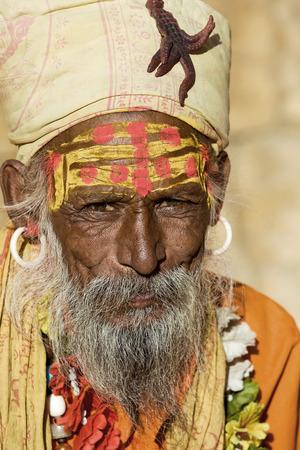 Indian sadhu (holy man). Jaisalmer, Rajasthan, India. Stock Photo - 29268988