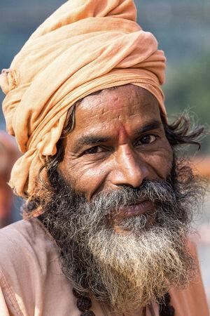 Indian sadhu (holy man). Devprayag, Uttarakhand, India. Stock Photo - 29268989