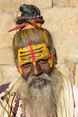 Indian sadhu (holy man). Jaisalmer, Rajasthan, India. Stock Photo - 29268991