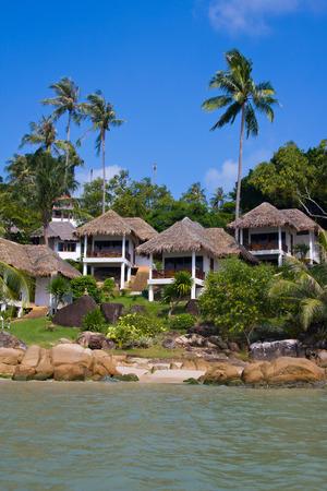 Tropical beach house on the island Koh Samui, Thailand photo