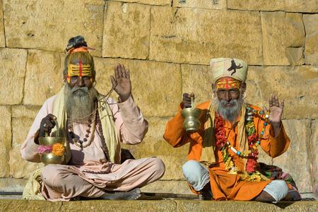 Indian sadhu, holy man. Jaisalmer, Rajasthan, India. photo