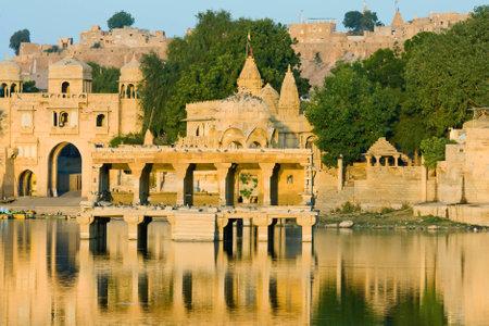 sagar: Gadi Sagar Gate in Jaisalmer, India
