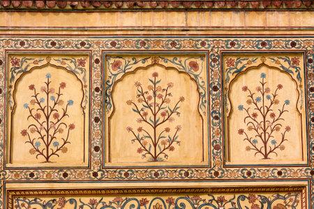 ジャイプール フォート インドの宮殿の壁にインドの髪飾り