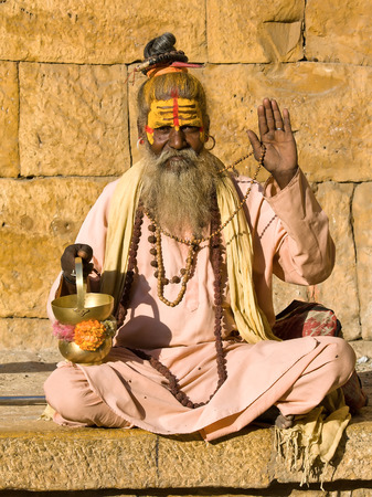 sadhu: Indian sadhu (holy man). Jaisalmer, Rajasthan, India. Editorial
