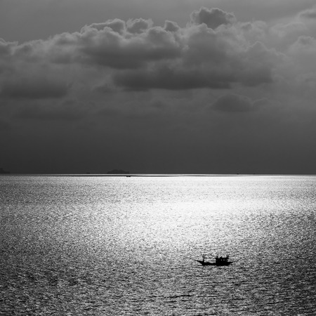 moonwalk: Beautiful sea during sunset on the island of Koh Phangan in Thailand