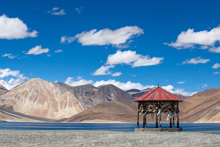 long lake: The sunny day at Pangong Lake. Pangong Lake, is an endorheic lake in the Himalayas situated at a height of about 4,350 m (14,270 ft). It is 134 km (83 mi) long and extends from India to Tibet.