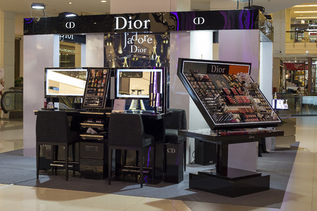 BANGKOK - NOVEMBER 18, 2014 : Christian Dior store in Siam Paragon Mall. Dior is one of many luxury brands to be found in this and other malls in Bangkok.