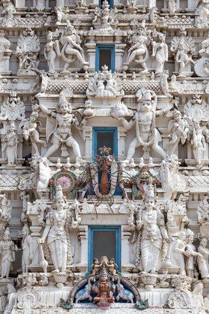 hindues: Los detalles de los hind�es dios en un templo, Pushkar, Rajasthan, India.