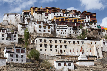 tibetan house: Tiksey Monastery is a Buddhist monastery in Ladakh, India ,