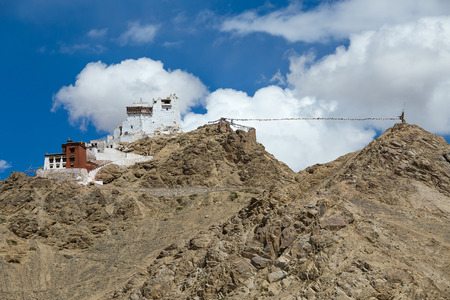 gompa: Fort and Namgyal or red gompa is main Buddhist centre in Leh. Ladakh. India