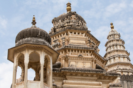 haveli: Temple in Pushkar, Rajasthan, India Stock Photo