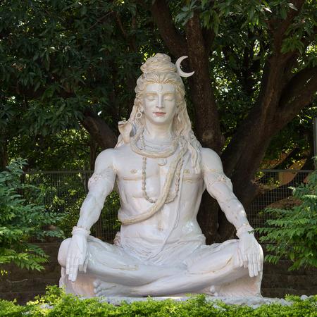 hand of god: Shiva statue in Rishikesh, India