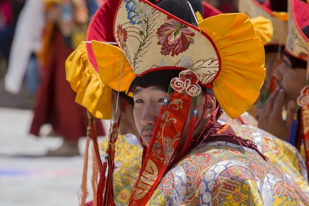 tantric: HEMIS, INDIA - JUNE 26, 2015: Hemis Festival is the Masked Dance, performed by the lamas, that celebrates victory good over evil at Ladakh, North India