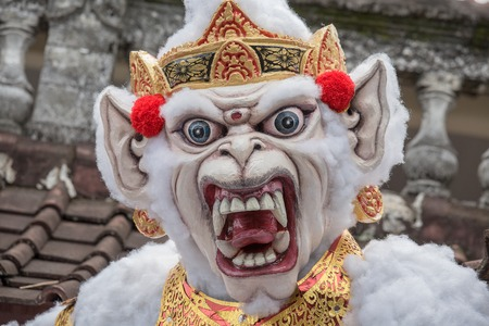 demon: Ogoh-ogoh in Bali, Indonesia. Ogoh-ogoh are statues built for the Ngrupuk parade, which takes place on the eve of Nyepi day in Bali, Indonesia. A Hindu holiday marked by a day of silence.
