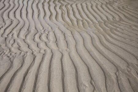 sandhills: Background rippled sand wave texture. Close up Stock Photo