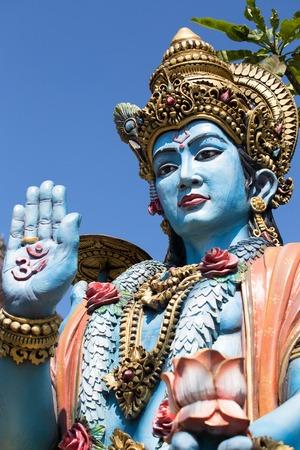 sanctity: Shiva statue, hindu idol in Bali, Indonesia. Close up Stock Photo