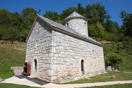 tara: Monastery near the Tara Canyon. Zabljak, Montenegro.