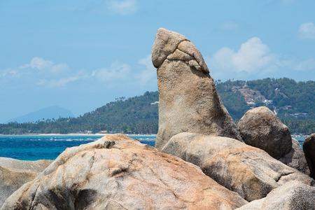koh samui: Hin Ta and Hin Yai Rocks , grandmother and grandfather rock in Koh Samui, Thailand