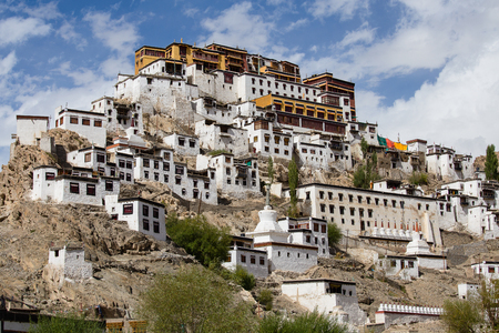 to and fro: Thiksey Monastery, Leh-Ladakh, Jammu and Kashmir, India. Thiksey is one of the Picturesque monasteries of Ladakh about 20 kms fro Leh.