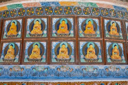 shanti: Detail of Shanti Stupa in Leh, Jammu and Kashmir, Ladakh, India Stock Photo