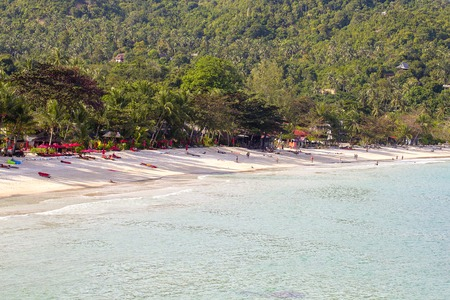 Thong Nai Pan beach, Koh Phangan, Thailand and sea water . Koh Phangan Island is one of the most popular destinations for tourists