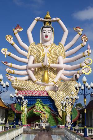 Wat Plai Laem temple with 18 hands God statue Guan Yin , Koh Samui, Surat Thani, Thailand. Stock Photo