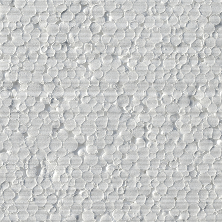 Wall insulation of buildings from cold foam, heat retention technology, close up Stock Photo
