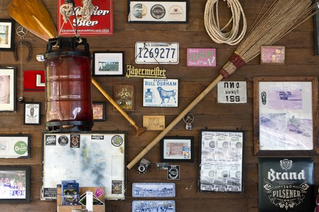 KOH PHANGAN, THAILAND - MARCH 12, 2018 : Decorated wall in the beach bar on the island Koh Phangan, Thailand