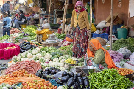 JAIPUR, INDIA - NOVEMBER 25, 2018: Jaipur, Rajasthan, India