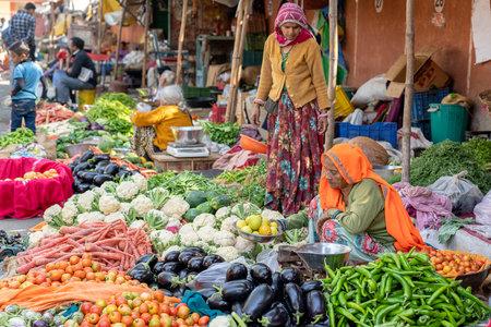 Jaipur, Indie - 25 listopada 2018: Jaipur, Radżastan, Indie