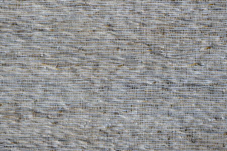 Detail of asian white patchwork carpet in Bali, Indonesia. Close up