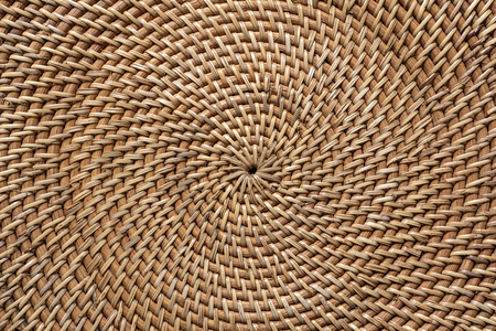 Abstract decorative wooden textured basket weaving. Basket texture background, close up. Abstract natural wicker horizontal background or texture 版權商用圖片