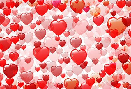 background with different shades of red from the hearts  photo