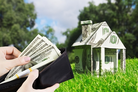 Concept picture on money for new housing photo