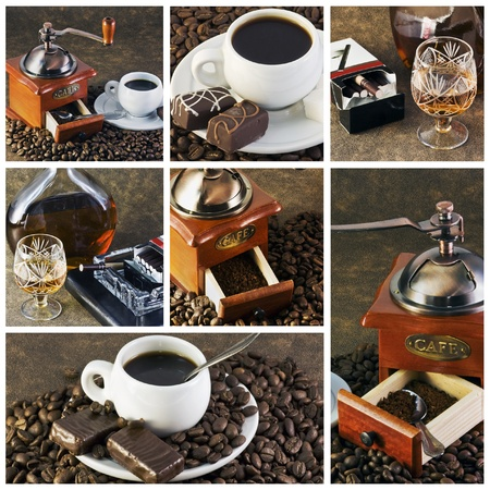 different devices for cooking and boiling coffee  photo