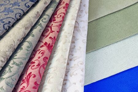diversified options for color and texture of textiles photo