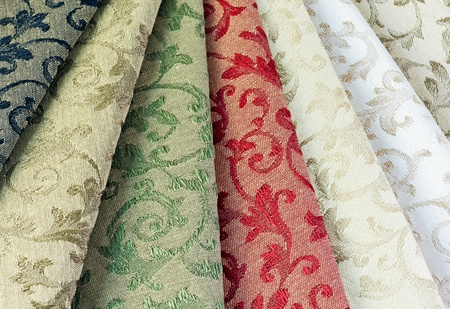 different colored materials for furniture upholstery photo