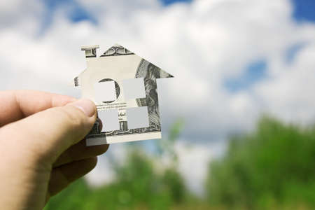 Concept picture on money for new housing Stock Photo - 11272542