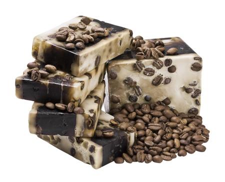 Coffee handmade soap and grain photo