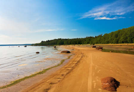 sandy Shore Gulf of Finland near Vyborg ����� photo