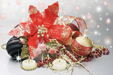 decorations for Christmas and New Year photo