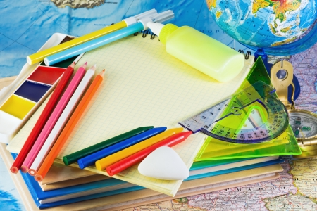 miscellaneous office supplies for school photo