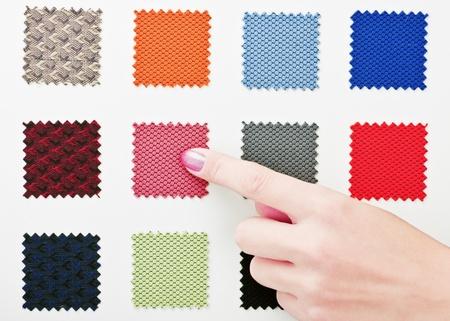 selects: i punti delle dita e seleziona il tessuto