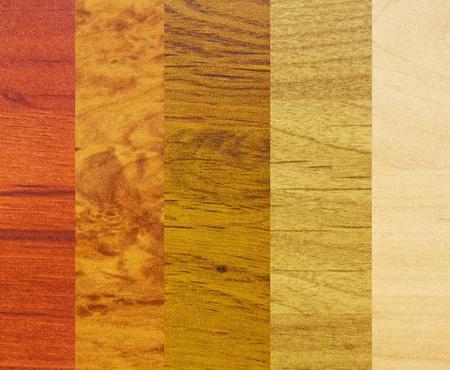 coatings: Several samples of various wood coatings
