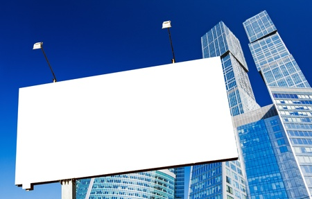 empty billboard on the background of skyscrapers Stock Photo - 11737754