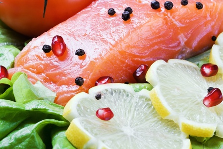 red fish and fresh vegetables Stock Photo - 11737797