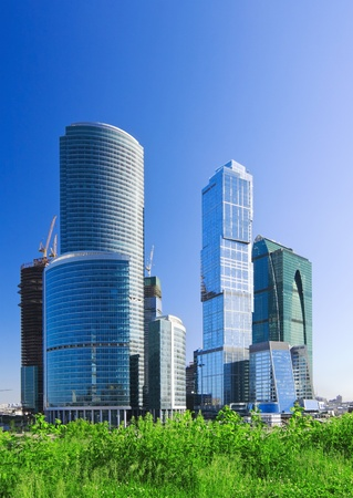 Moscow City complex under construction.  photo