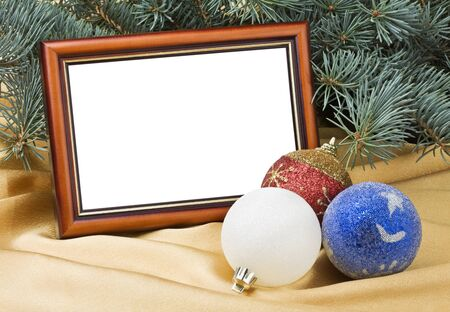 Christmas cards and toys under the tree photo